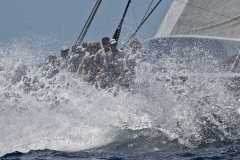 Virgin Gorda, 16/03/12 Loro Piana Caribbean Superyacht Regatta & Rendezvous 2012 Race Day 2: HANUMAN Photo: © Carlo Borlenghi