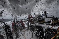 Leg 3, Cape Town to Melbourne, day 5, Wet down here on board Sun Hung Kai/Scallywag. Photo by Konrad Frost/Volvo Ocean Race. 14 December, 2017.
