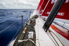 Leg 02, Lisbon to Cape Town, day 12, on board MAPFRE, speed to Cape Town, long exposure. Photo by Ugo Fonolla/Volvo Ocean Race. 16 November, 2017