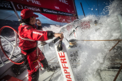 Leg 02, Lisbon to Cape Town, day 01, start on board MAPFRE. Photo by Ugo Fonolla/Volvo Ocean Race. 06 November, 2017