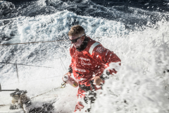 Leg 02, Lisbon to Cape Town, day 02, on board Vestas 11th Hour. Photo by Martin Keruzore/Volvo Ocean Race. 07 November, 2017.