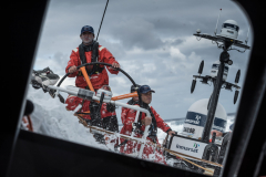 Leg 02, Lisbon to Cape Town, day 02, on board Vestas 11th Hour. Photo by Martin Keruzore/Volvo Ocean Race. 08 November, 2017.